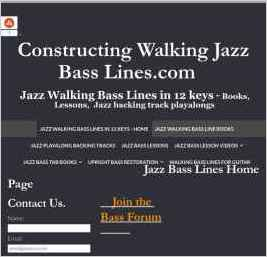 Constructing Walking Jazz Bass Lines