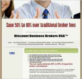 Discount Business Brokers USA - Save 50% to 80% Over Traditional Broker Fees!