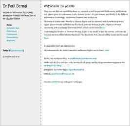 Paul Bernal's Website