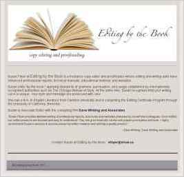 Editing by the Book