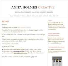 Anita Holmes Creative––Writer, Editor, Photographer