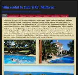 Villa Rental in Cala D'Or, Mallorca