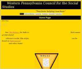 Western Pennsylvania Council for the Social Studies