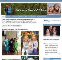 James and Sarah's Website