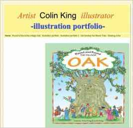 Artist Colin King illustrator