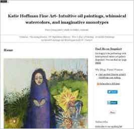 Katie Hoffman Fine Art- Intuitive oil paintings, whimsical watercolors, and imaginative monotypes