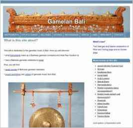 Gamelan Bali, Pieter Duimelaar's site of Balinese gamelan music