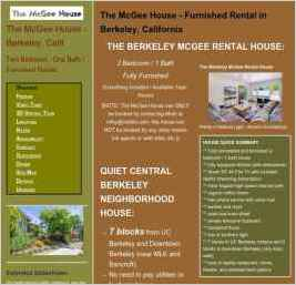 Berkeley Vacation Rental - The McGee House
