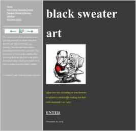 black sweater art