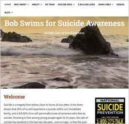Bob Swims for Suicide Awareness