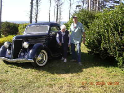 Shopman and Beep with 36 Ford