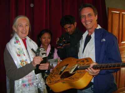 Jane Goodal supports Music Seeds International