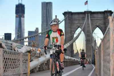 NYC Century Bike Tour With ITALIA shirt