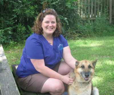 Dr. Carrie and her dog Sarge