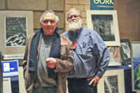 I'm the bearded guy with the artist Harry Hasheian at the Philad