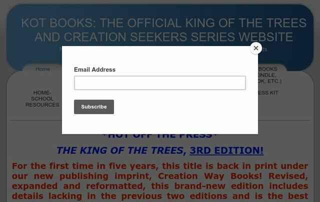 KOT Books: The Official King of the Trees and Creation Seekers Series Website