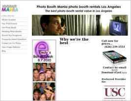 Photo booth rentals in Los Angeles for weddings, parties and other special occasions
